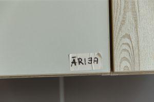 """Skapīša durvis ar uzlīmi """"Ārija"""""""